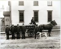 Antique Firemen Horse Drawn Wagon Fire Department