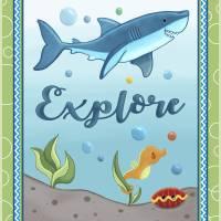 Sweet Ocean Dreams - Shark Nursery Art Print Art Prints & Posters by Cheryl Marie