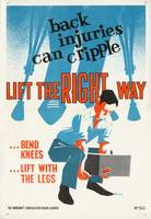 Lift the Right Way safety poster Alberta Workmen's