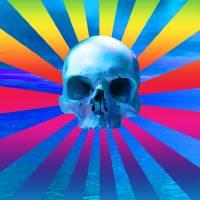 Blue ocean skull Art Prints & Posters by Matthew Lacey
