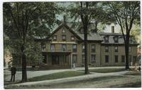 Colorized view of the Bay View House in Camden, Ma