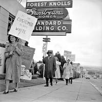 Housing discrimination protest, 1961
