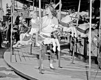 Carousel at P.N.E. Playland, 1950s