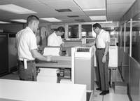 Inmates with IBM printer , IBM Spectra 70 Printer