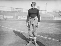 Vintage photography print football player vintage