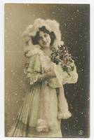 c 1907 Glamor Glamour SNOW BEAUTY Fashion Winter