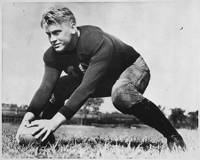Photograph of Gerald R. Ford, Jr., on the Football