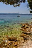 Amazing beach in Bol on island Brac. Croatia