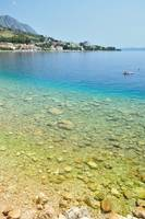 Adriatic sea at Podgora in Croatia