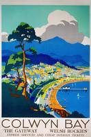 Colwyn Bay, Wales Vintage Travel Poster