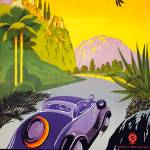 """Greece Vintage Auto Travel Poster"" by FineArtClassics"