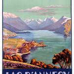 """""""Lac DAnnecy, Haute-Savoie Vintage Travel Poster"""" by FineArtClassics"""