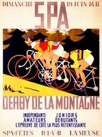 Derby de la Montagne Vintage Bicycle Poster