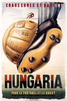 Hungary Football Rugby Vintage Poster
