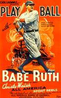 Play Ball, Babe Ruth Vintage Movie Poster
