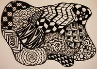 Abstract Zentangle Digital Artwork