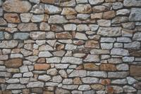 Stone wall background with matt film effect