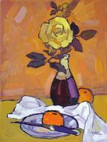 Yellow Rose and Oranges-2