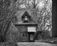 The Carriage House In Black And White by Kirt Tisdale