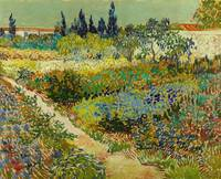 Garden at Arles / Flowering Garden with Path by Vi