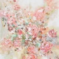 Let Love Bloom - Pink Flowers Art Prints & Posters by Christine Bell Krainock