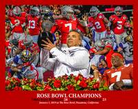 Ohio State Buckeyes OSU Rose Bowl Champions ART WC