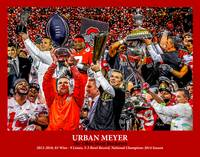 Ohio State Buckeyes OSU Urban Meyer 2510 Art 11x14