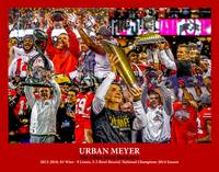 Ohio State Buckeyes OSU Urban Meyer 2530 Art 11x14