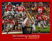 Ohio State Buckeyes z NC Art1 2014 RED 11x14