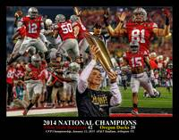 Ohio State Buckeyes z NC Art1 2014 BLACK 11x14