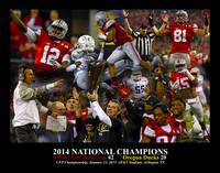 Ohio State Buckeyes z NC Art2 2014 BLACK 11x14