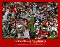 Ohio State Buckeyes z NC Art4 2014 RED 11x14