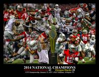 Ohio State Buckeyes z NC Art4 2014 BLACK 11x14