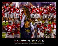 Ohio State Buckeyes z NC Art3 2014 BLACK 11x14