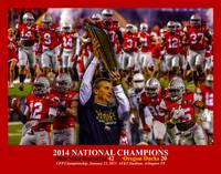 Ohio State Buckeyes z NC Art3b 2014 RED 11x14