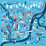 Illustrated Map of Philadelphia by Nate Padavick Prints & Posters