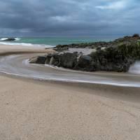 """Scenic Beach Scene Sunrise and Sunset"" by Booradley"