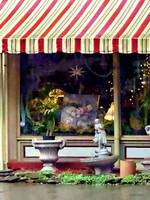 Owego NY - Gift Shop with Striped Awning