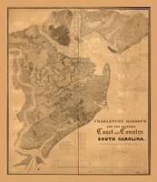 Charleston Harbour, South Carolina Map (1823-1825)