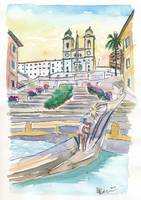 Rome Italy Piazza Spagna with Spanish Steps