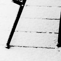 Deck chair in the snow
