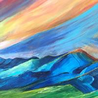 """Sunset Bridgers"" by allisonmcgreefineart"