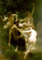 Bouguereau Nymphes et satyre
