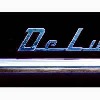 1953 Chevrolet DeLuxe Logo - Black Art Prints & Posters by David Caldevilla