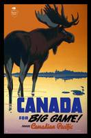 Canada Big Game Travel Poster