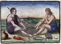 De Bry Native American Man and Woman Eating