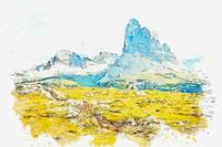Dolomites, Monte Piana, Italy -  watercolor by Ada