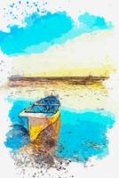 The Boat -  watercolor by Ahmet Asar