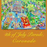 4th of July Parade Poster Art Prints & Posters by Michael Ives