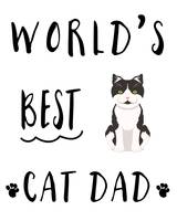 World's Best Cat Dad Tuxedo
